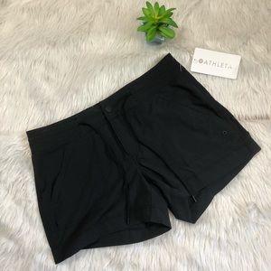 Athleta Black Rincon Shorts Size 8